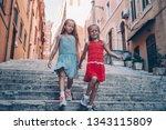adorable little girls on...   Shutterstock . vector #1343115809