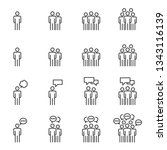 people icons   person work... | Shutterstock .eps vector #1343116139