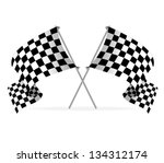 vector racing flags | Shutterstock .eps vector #134312174