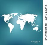 world map. vector illustration. | Shutterstock .eps vector #134312246
