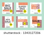 set media banners with discount ... | Shutterstock .eps vector #1343127206