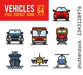 vehicle and transport outline... | Shutterstock .eps vector #1343128976