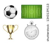 illustration soccer set icons...   Shutterstock . vector #1343139113