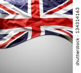 closeup of union jack flag on... | Shutterstock . vector #134314163