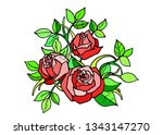 roses. white background. design ... | Shutterstock .eps vector #1343147270