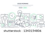good morning   line design... | Shutterstock .eps vector #1343154806