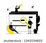 search concept   flat design... | Shutterstock .eps vector #1343154833