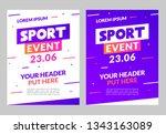 sport flyer design banner... | Shutterstock .eps vector #1343163089