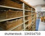 Old Vintage Files In A Storage...