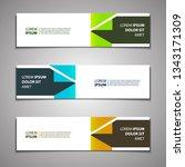stock vector banner background...   Shutterstock .eps vector #1343171309