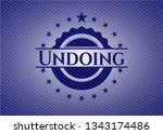 undoing jean or denim emblem or ... | Shutterstock .eps vector #1343174486