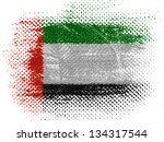 the united arab emirates flag... | Shutterstock . vector #134317544