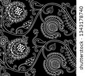 hand drawn seamless pattern in...   Shutterstock .eps vector #1343178740