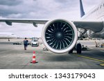 busy day at airport. ground... | Shutterstock . vector #1343179043