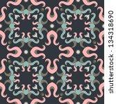 seamless pattern floral texture   Shutterstock .eps vector #134318690