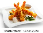 japanese cuisine   tempura... | Shutterstock . vector #134319023