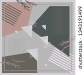 geometric abstract scarf... | Shutterstock .eps vector #1343191499