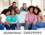 multi generation black family... | Shutterstock . vector #1343195993