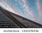 sky house. a pink pattern of... | Shutterstock . vector #1343196536