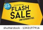 flash sale design for business... | Shutterstock .eps vector #1343197916
