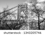 abstract industrial bridge in... | Shutterstock . vector #1343205746