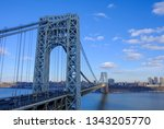 abstract industrial bridge in... | Shutterstock . vector #1343205770