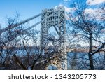 abstract industrial bridge in... | Shutterstock . vector #1343205773