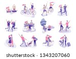 happy lover relationship ... | Shutterstock .eps vector #1343207060