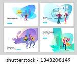 real estate landing page... | Shutterstock .eps vector #1343208149