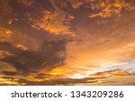 dramatic golden sunset and... | Shutterstock . vector #1343209286