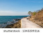seaside walkway path  with... | Shutterstock . vector #1343209316