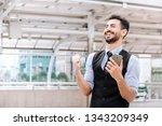 successful businessman raise...   Shutterstock . vector #1343209349