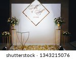 wedding in a tent. decoration... | Shutterstock . vector #1343215076