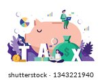 business team analysis and... | Shutterstock .eps vector #1343221940