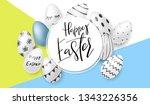 vector illustration of easter... | Shutterstock .eps vector #1343226356