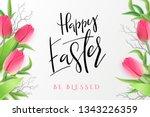 vector illustration of easter... | Shutterstock .eps vector #1343226359