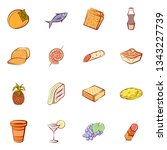 food images. background for... | Shutterstock .eps vector #1343227739