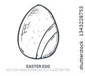 easter egg in doodle style....   Shutterstock .eps vector #1343228753