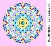 kaleidoscope isolated. optical... | Shutterstock .eps vector #1343231309