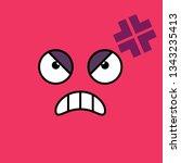 angry  annoyed emoji vector... | Shutterstock .eps vector #1343235413