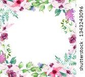 wedding spring romantic bridal...   Shutterstock . vector #1343243096