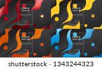 set of four dynamic abstract... | Shutterstock .eps vector #1343244323