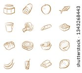 food images. background for... | Shutterstock .eps vector #1343268443