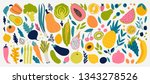 cute doodle illustration with... | Shutterstock .eps vector #1343278526