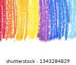 oil pastel gradient stroke... | Shutterstock . vector #1343284829