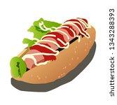 hot dog vector illustration    Shutterstock .eps vector #1343288393