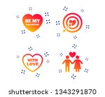 valentine day love icons.... | Shutterstock .eps vector #1343291870