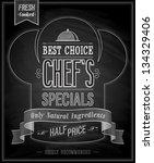 chef s specials poster  ... | Shutterstock .eps vector #134329406