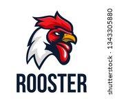 rooster logo design | Shutterstock .eps vector #1343305880