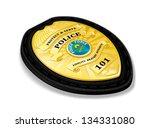police badge with wallet... | Shutterstock .eps vector #134331080